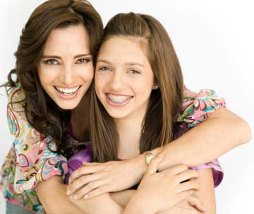 Braces Mother and Daughter